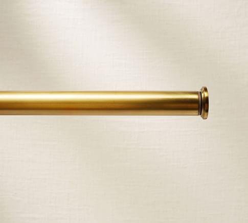 Brass Curtain Rod Amp Wall Bracket Brass Curtain Rods
