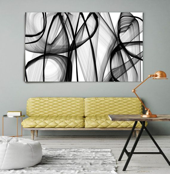 A spiritual being. Contemporary Abstract Black and White, Unique ...