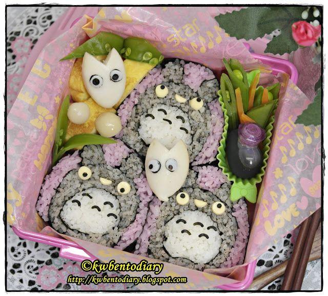 Karenwee's Bento Diary: Bento#July18~Totoro Futomaki Sushi (2nd attempt)