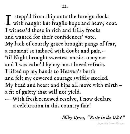 Paraphrasing shakespeare lyrics