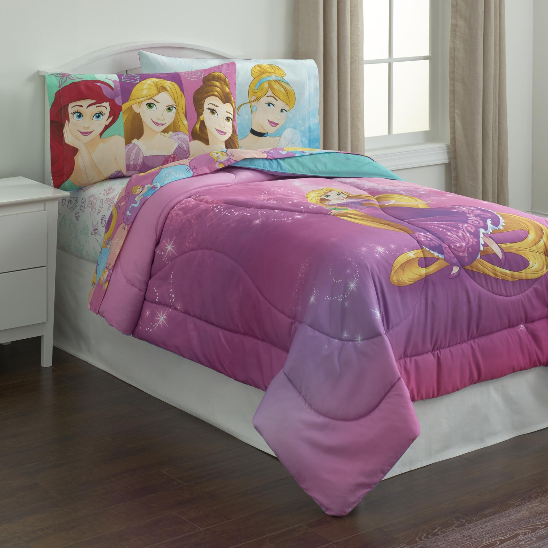 Disney Princess Girl S Reversible Twin Comforter Multi With