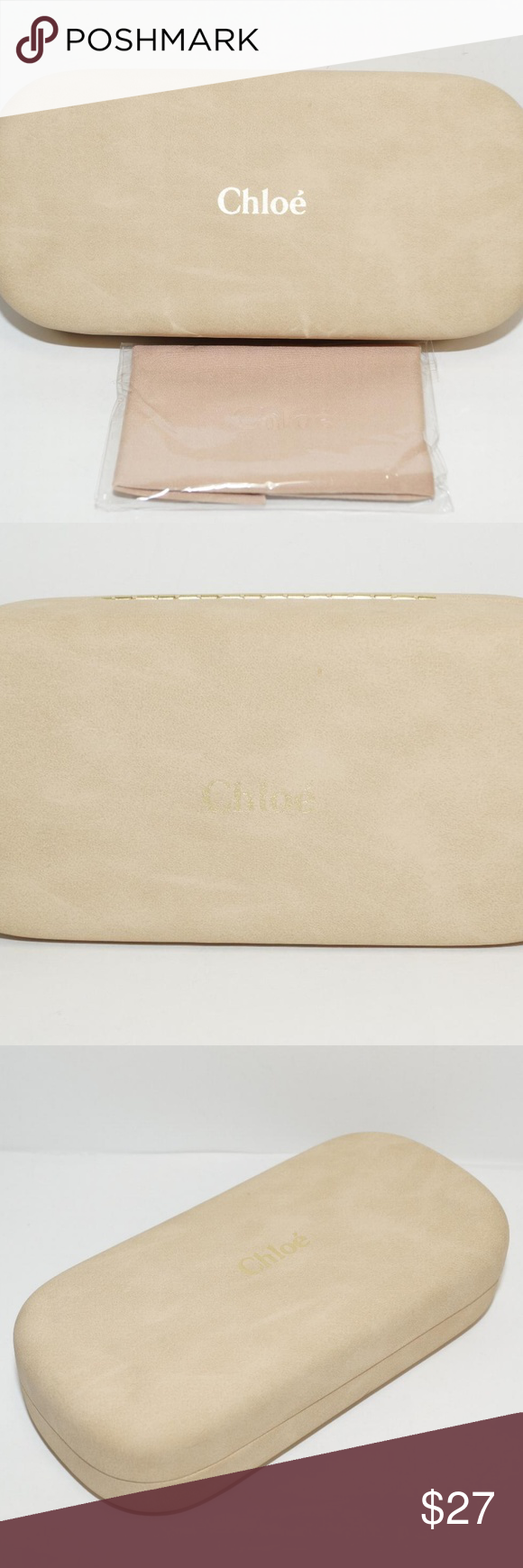 d8daf82540d0 ... listing on Poshmark  CHLOE BEIGE SUEDE LEATHER SUNGLASSES GLASSES CASE.   shopmycloset  poshmark  fashion  shopping  style  forsale  Chloe   Accessories