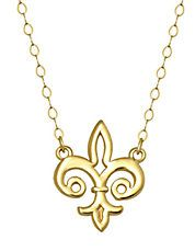 14 Carat Gold Silhouette Charm Necklace.