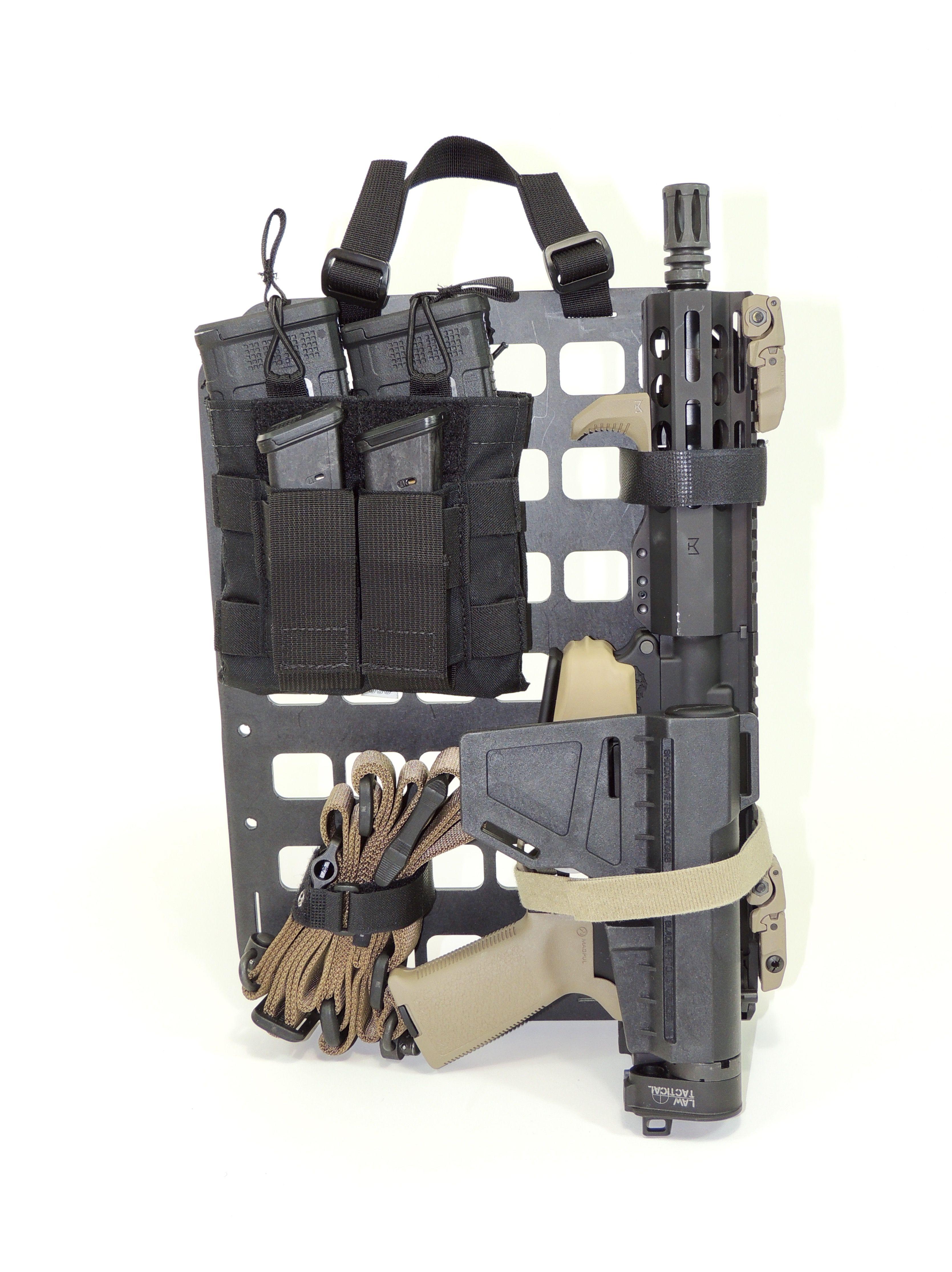 Grey Man Tactical Rip M Rigid Insert Panel Molle With Ar15 Pistol Build W Law Gen Iii Folder And Ghost Gear Magazine Holders