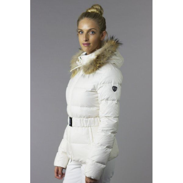 07f686bf30 Armani EA7 Mountain Puffy Womens Ski Jacket in Latte