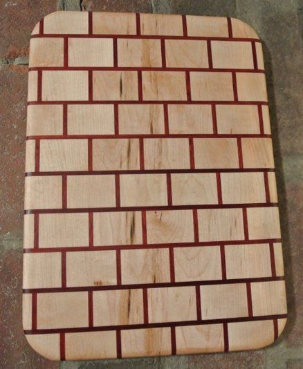 brick pattern cutting board if i had a planer pinterest brick