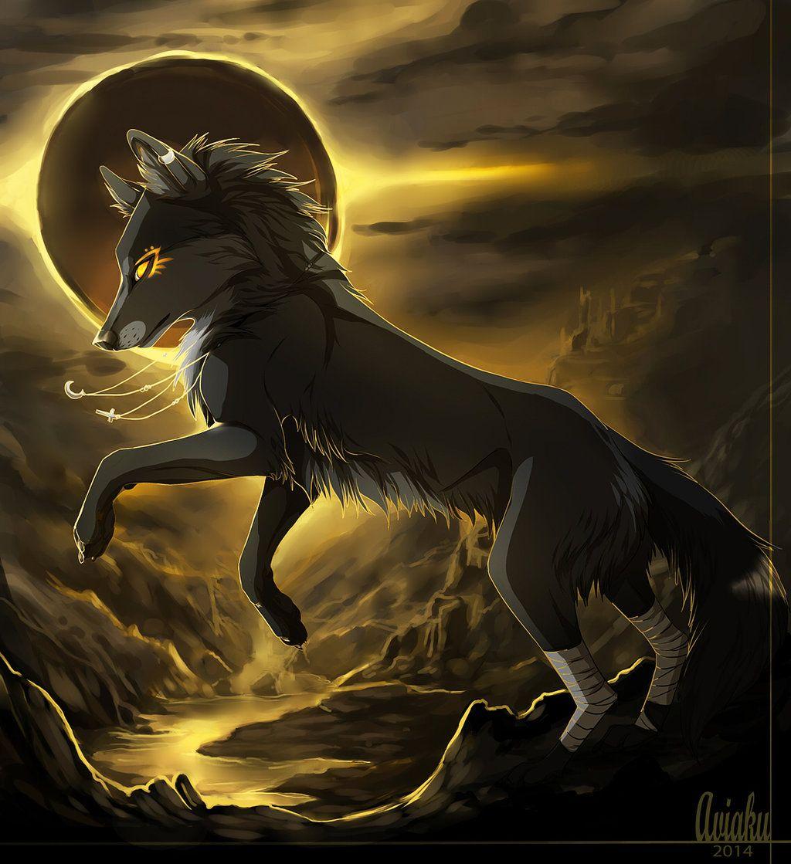 Картинки волка аниме