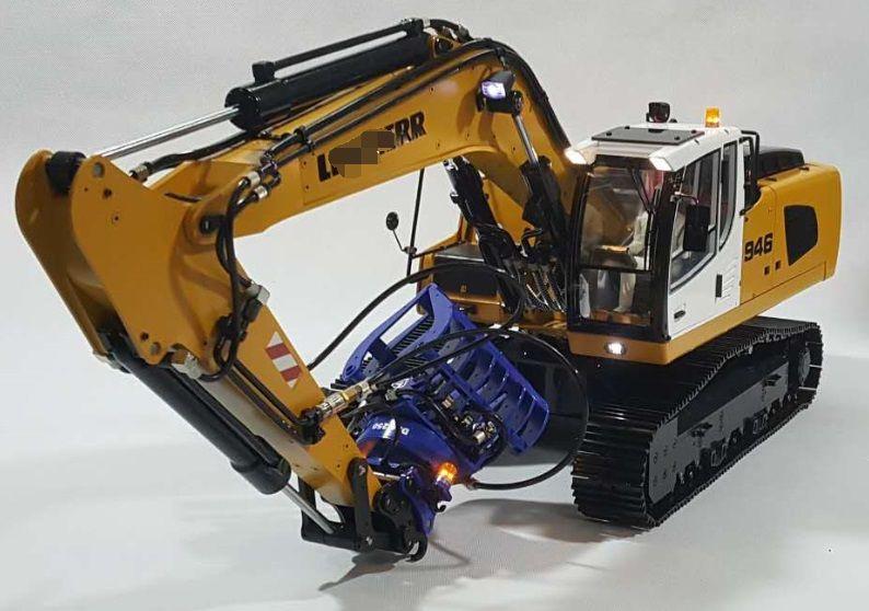 114 rc hydraulische graafmachine model946 modellbau