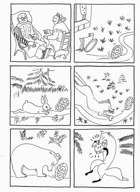 Coloriage Animaux Roule Galette.Images Sequentielles De Roule Galette Texte Et Images Dis