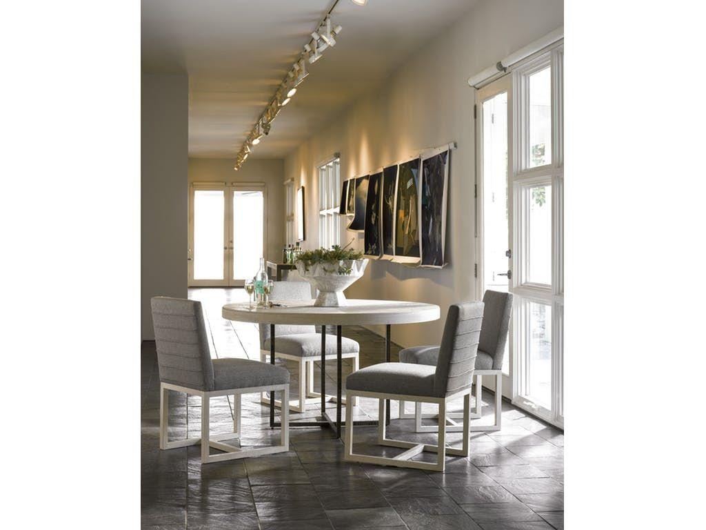 Modern Quartz Robards Round Dining Table Universal Furniture