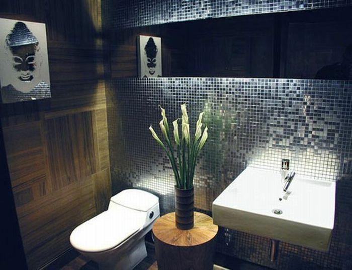 Kleines Badezimmer Fliesen Mosaik   Bild An Der Wand