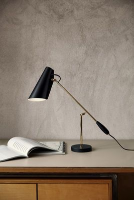 Beautiful Lampe de table Birdy R dition Noir laiton Northern Lighting