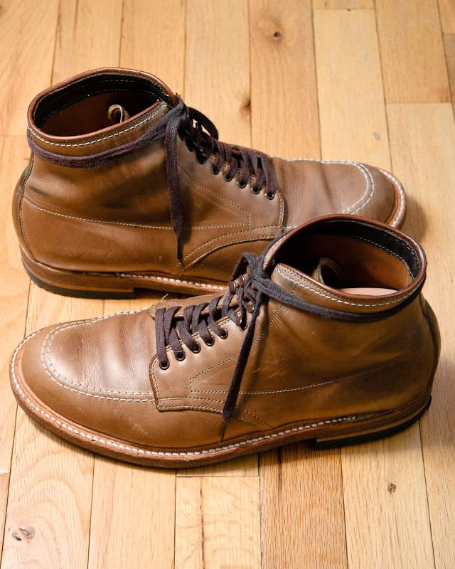 Alden Indies in Natural Chromexel leather.