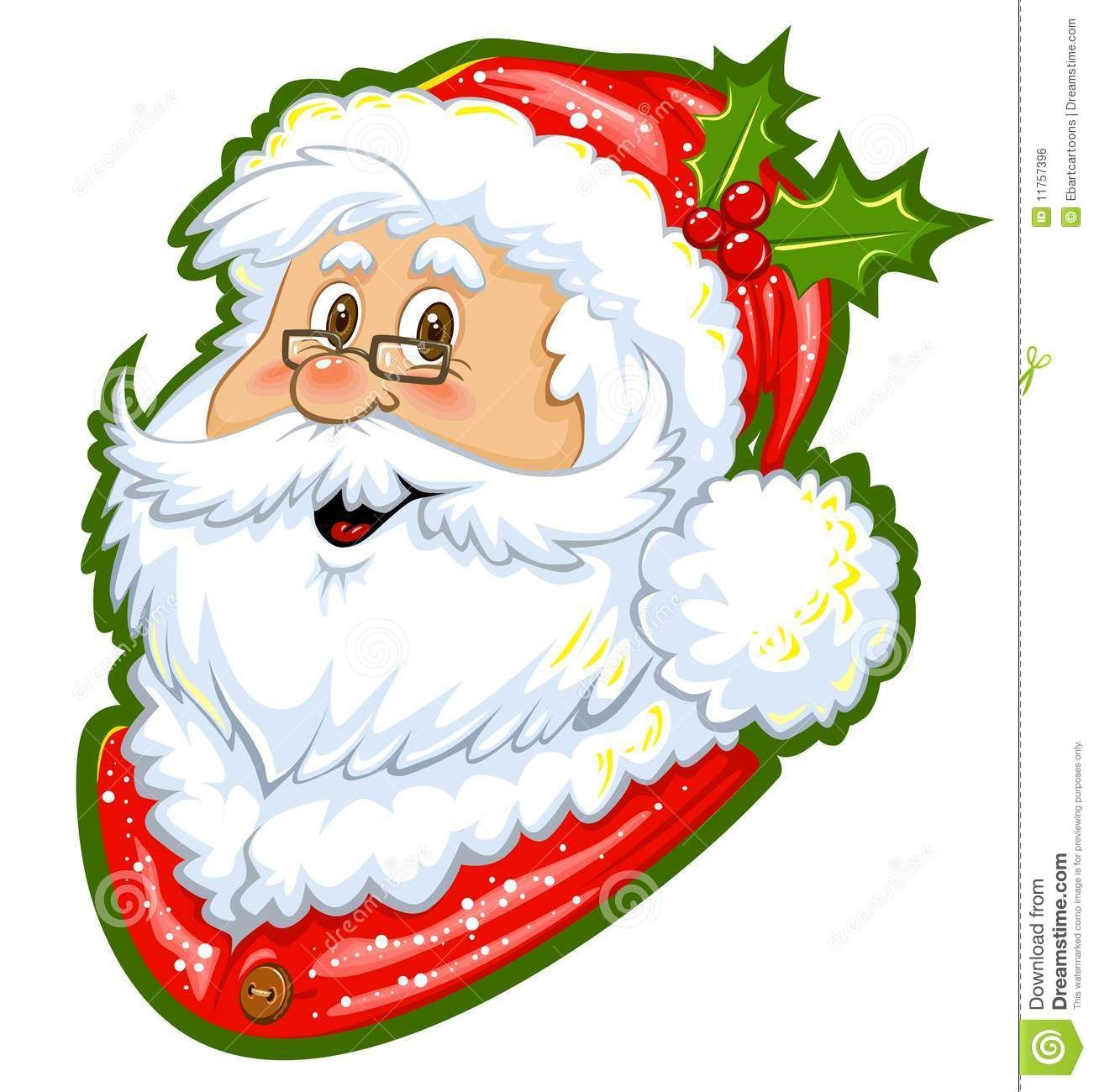 Santa Claus Color Clipart For Christmas Greeting Cards Description