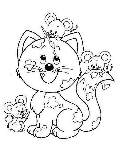 Detalle De La Imagen De Dibujos De Gatos Gatos Para Colorear