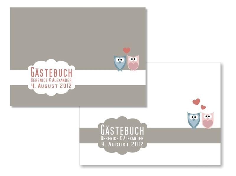 Gästebuch Hochzeit mit Gästefragen (PDF) von Be-Nice-4-You auf DaWanda.com