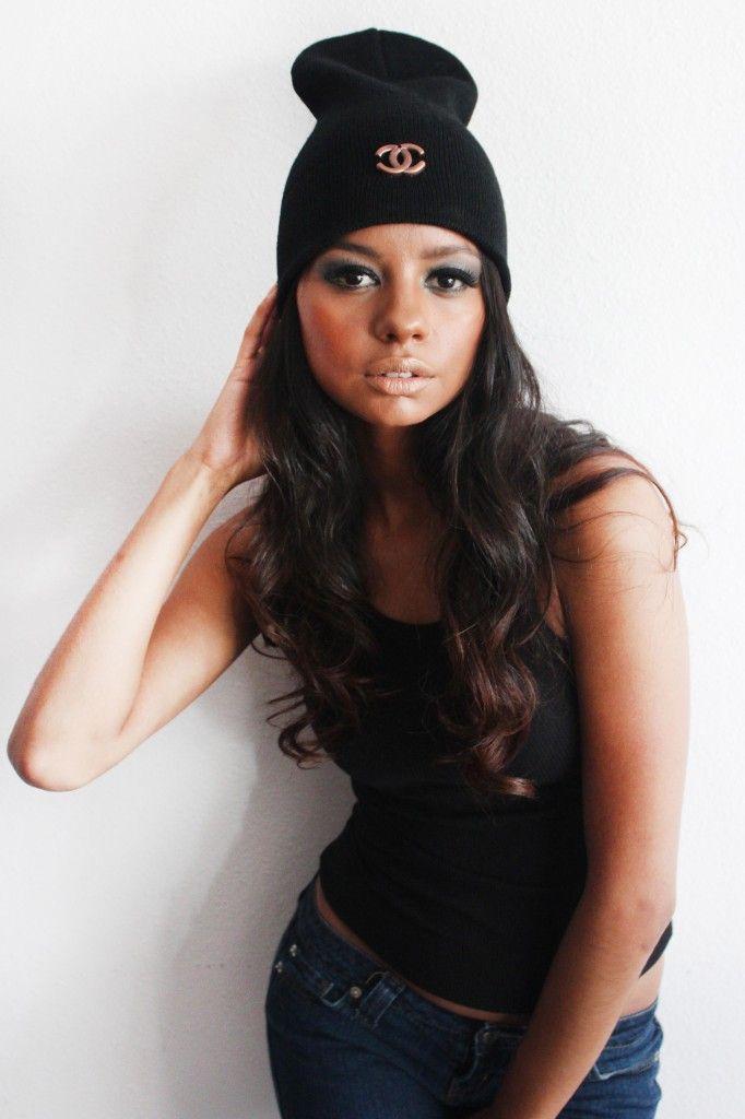 Vintage Chanel Inspired Beanie (Black)