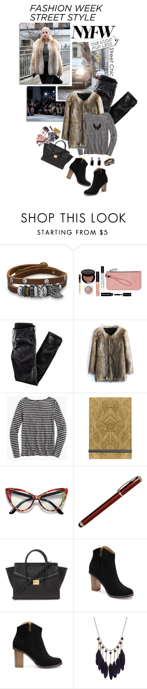 """""""Day One: The Best NYFW Street Style"""" by shortyluv718 ❤ liked on Polyvore featuring BillyTheTree, Bobbi Brown Cosmetics, H&M, Chicwish, J.Crew, Christian Lacroix, Laurex, Forever 21, women's clothing and women"""
