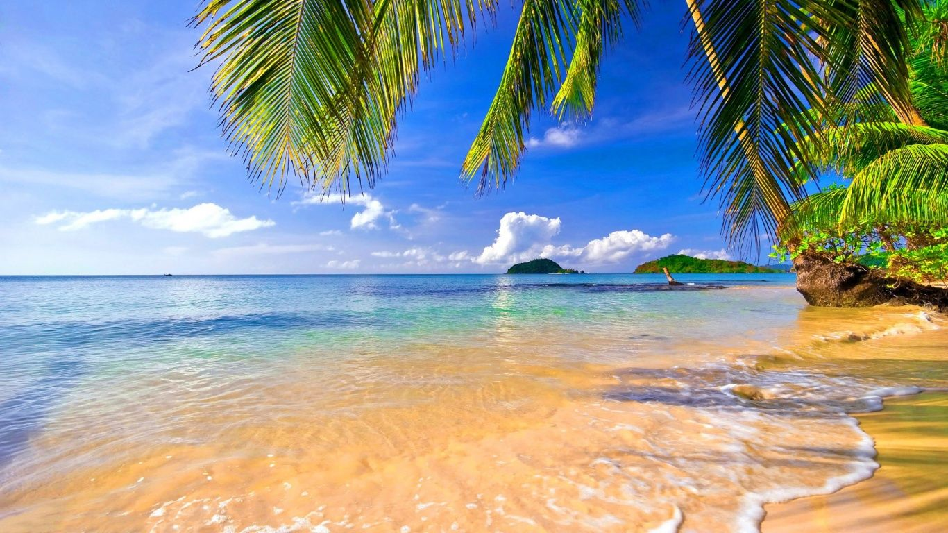 Tropical Beach Wallpaper HD #nYl | Earth in 2019 | Beach wallpaper, Tropical wallpaper, Tropical ...