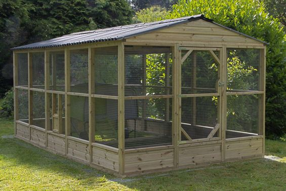 Walk In Chicken House large chicken run 6x9' basic size + options | poules | pinterest