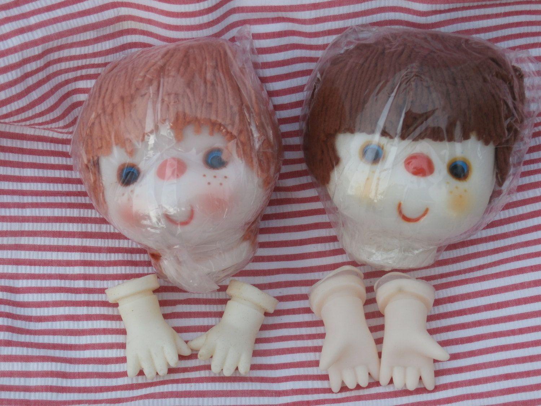 Darice Mitzi Doll Head and Hands Light Tan Hair