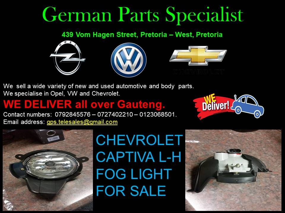 At German Parts Specialists We Specialise In Volkswagen Opel And Chevrolet With Us You Can Get Any Parts That You Are In Sell Used Car Chevrolet Captiva Opel