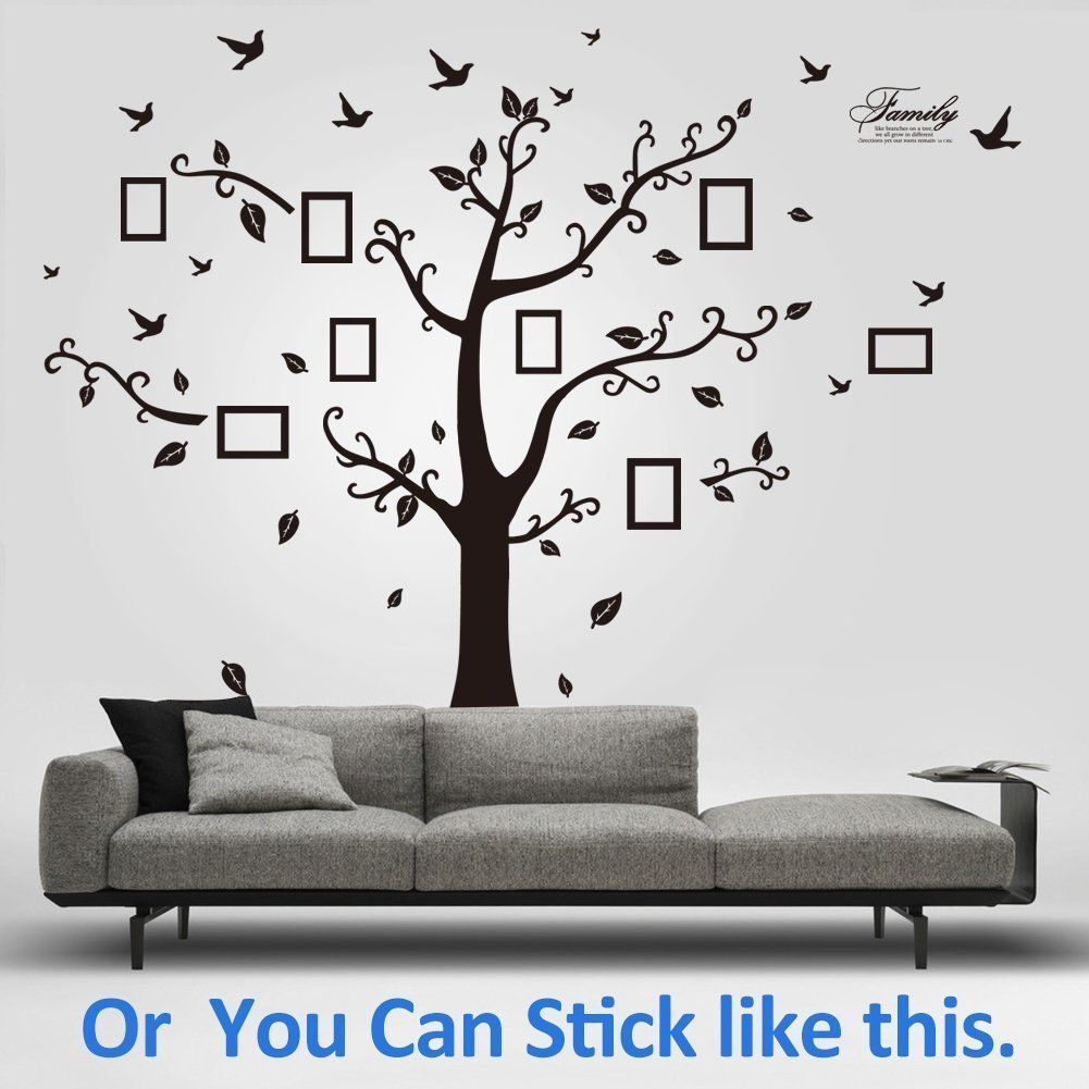 Removable Vinyl Home Decor Stickers Family Tree Wall Decal Mural
