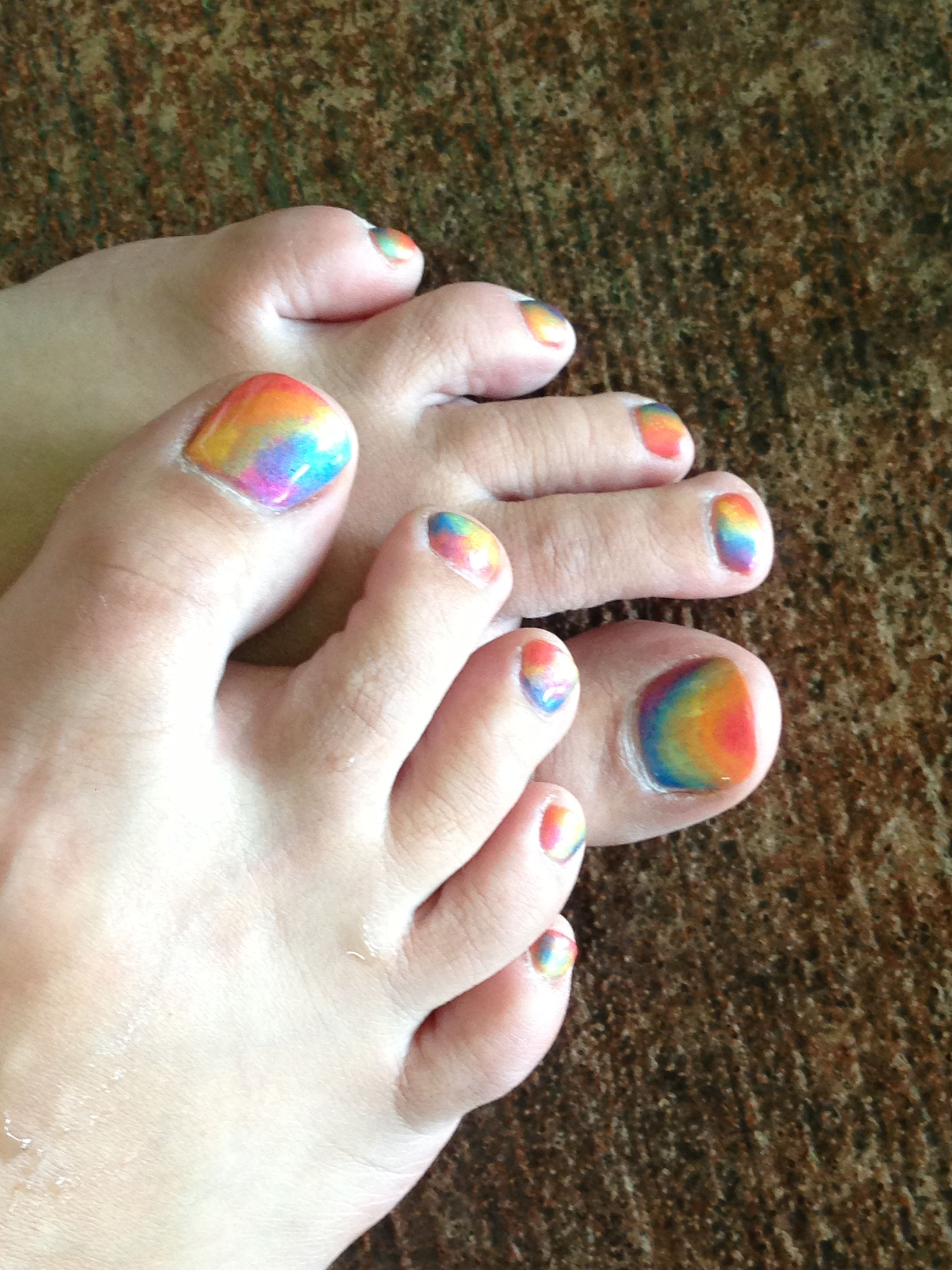 Super Cute Rainbow Toes By Nail Art Spa In Elgin My Style Nail