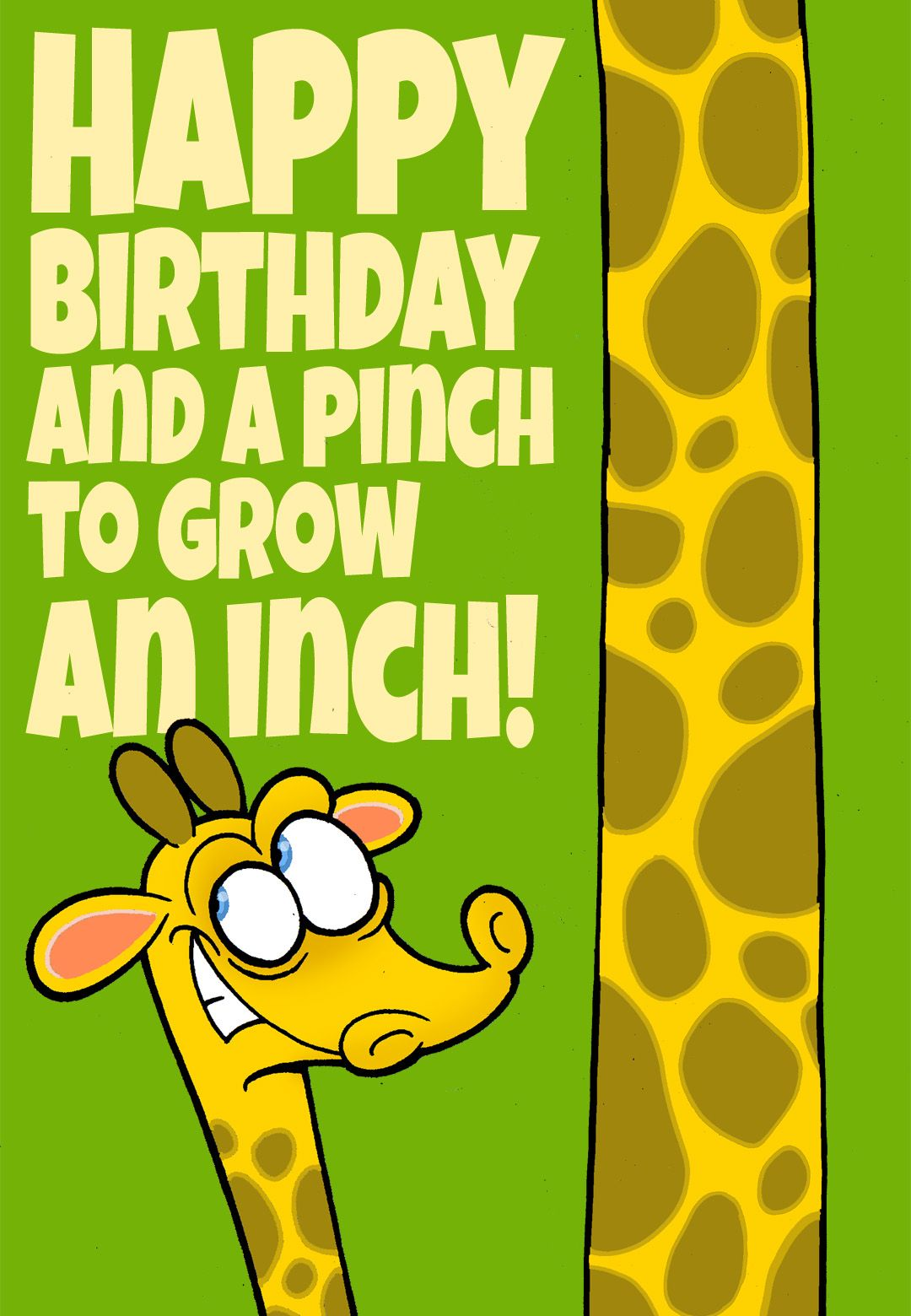 Free printable a pinch to grow an inch greeting card free