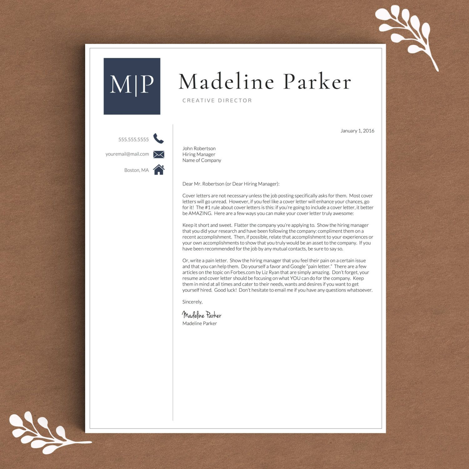 Professional Resume Template for Word & Pages 1, 2 and 3