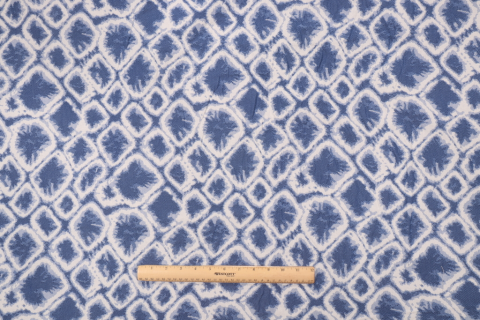 2 Yards Woven Acrylic Outdoor Fabric In Blue White Outdoor