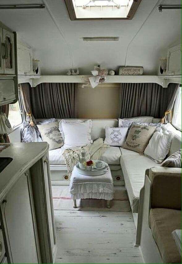 So Charming Campeurs Renovees Interieur Camping Car Campeur Vintage