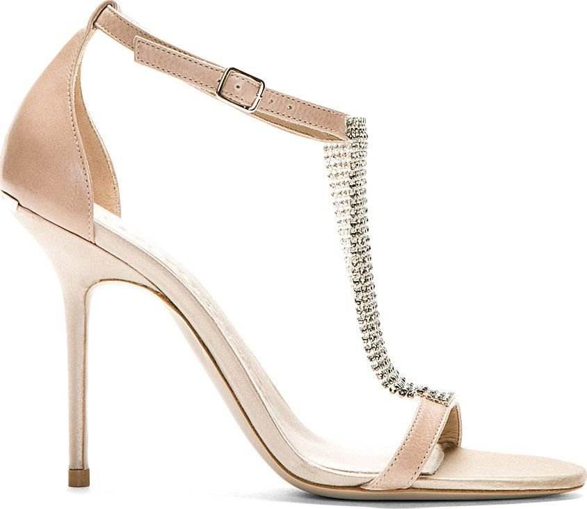 Burberry Prorsum - Nude Crystal Embellished Heeled Sandals