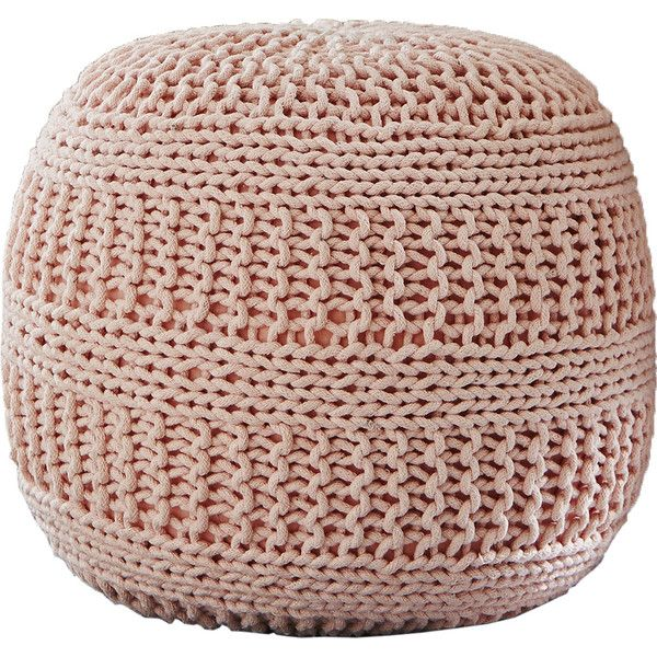 Ramon Color Cable Knit Pouf Ottoman Knitted Pouf Knitted Ottoman Pouf Ottoman