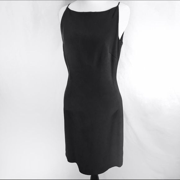 Banana Republic black silk dress Classic black silk dress from Banana Republic. Zip back, flattering shape. Above knee length. Great condition. Banana Republic Dresses