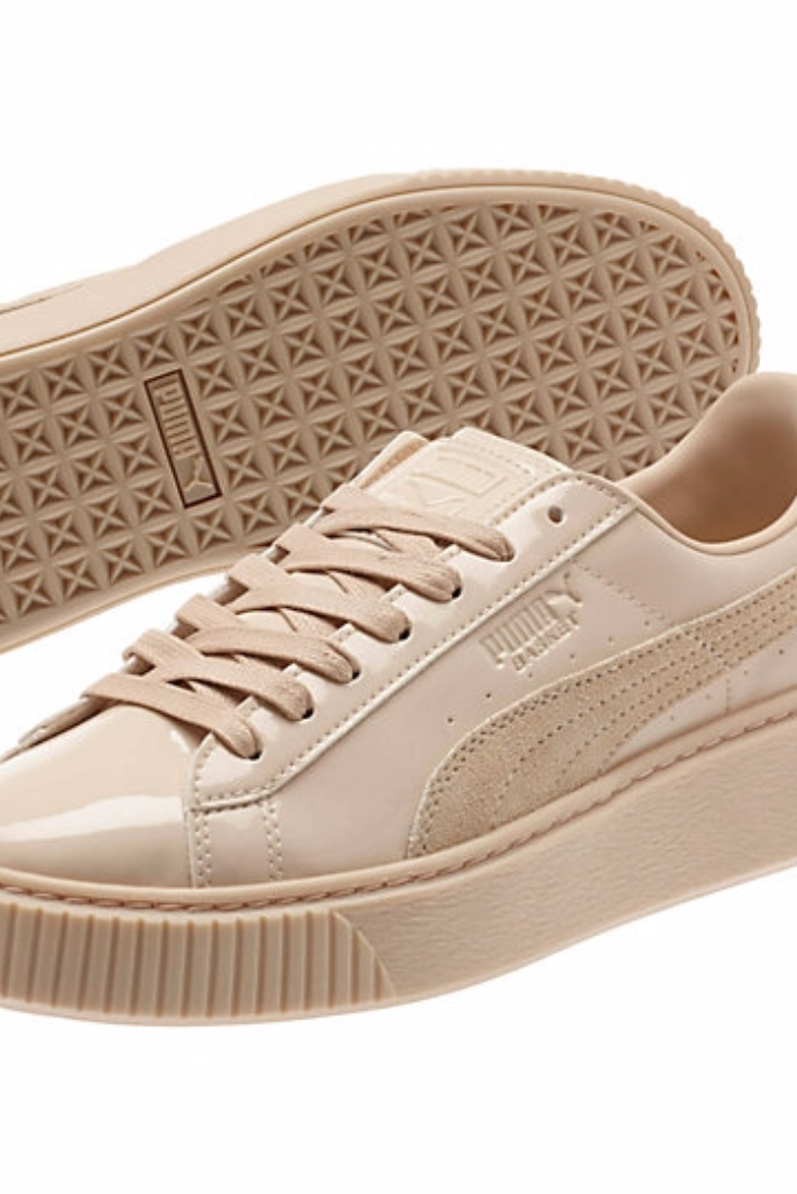 9f033c9fb50 Beige Sneaker Trend  Puma Basket Platform Patent Sneaker  100