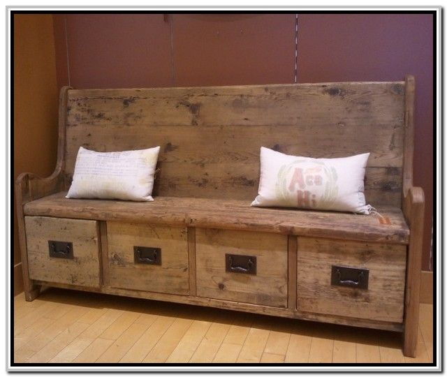 Rustic Entryway Bench With Storage Furniture Furniture Image