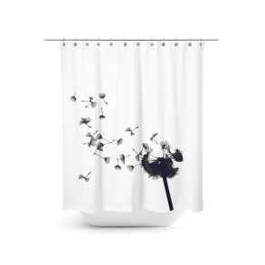 Dandelion Shower Curtain Size L 200 Cm W 180 Cm Shower