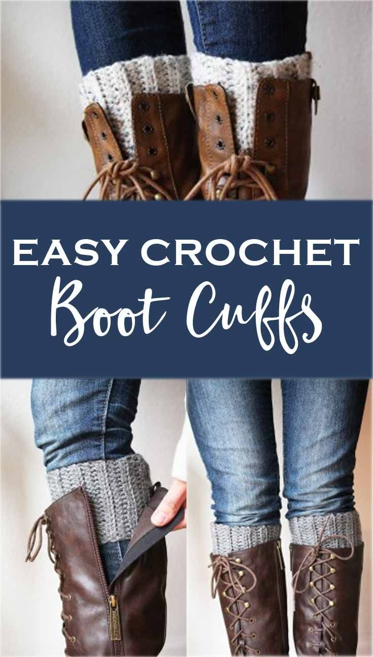 Cute and Easy Crocheted Boot Cuffs #bootcuffs