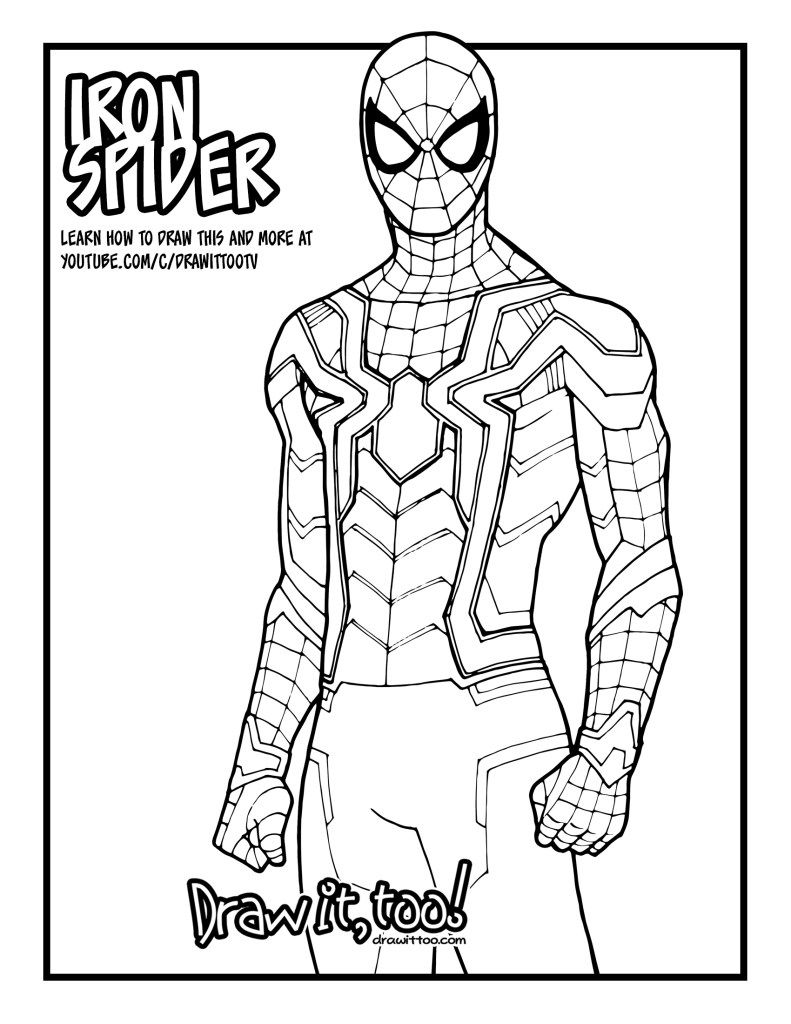 How To Draw Iron Spider Desktop Spiderman Drawing Iron