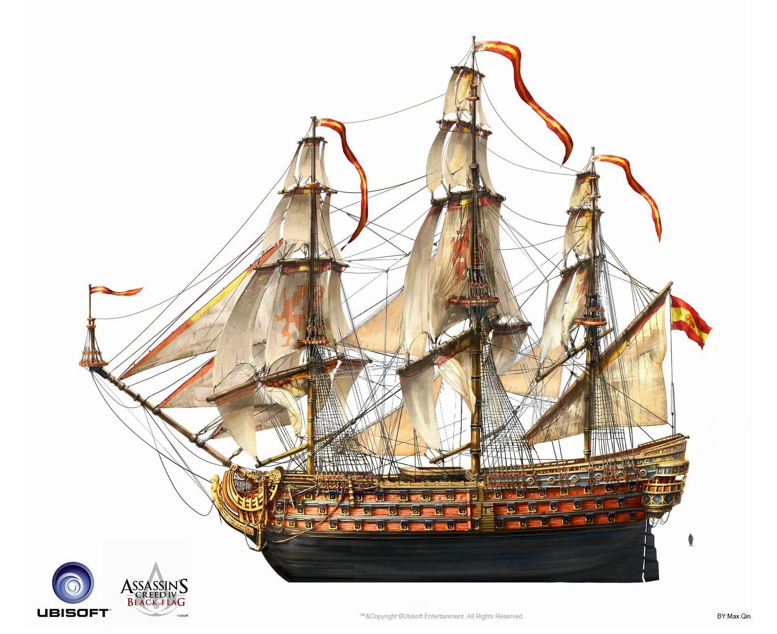 Max Qin Gallery Assassins Creed Black Flag Sailing Ships Assassins Creed