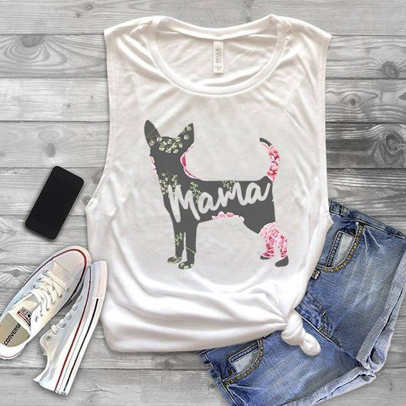 Chihuahua Mama Muscle Tank Top Dog Mom Workout Tank Top For Women