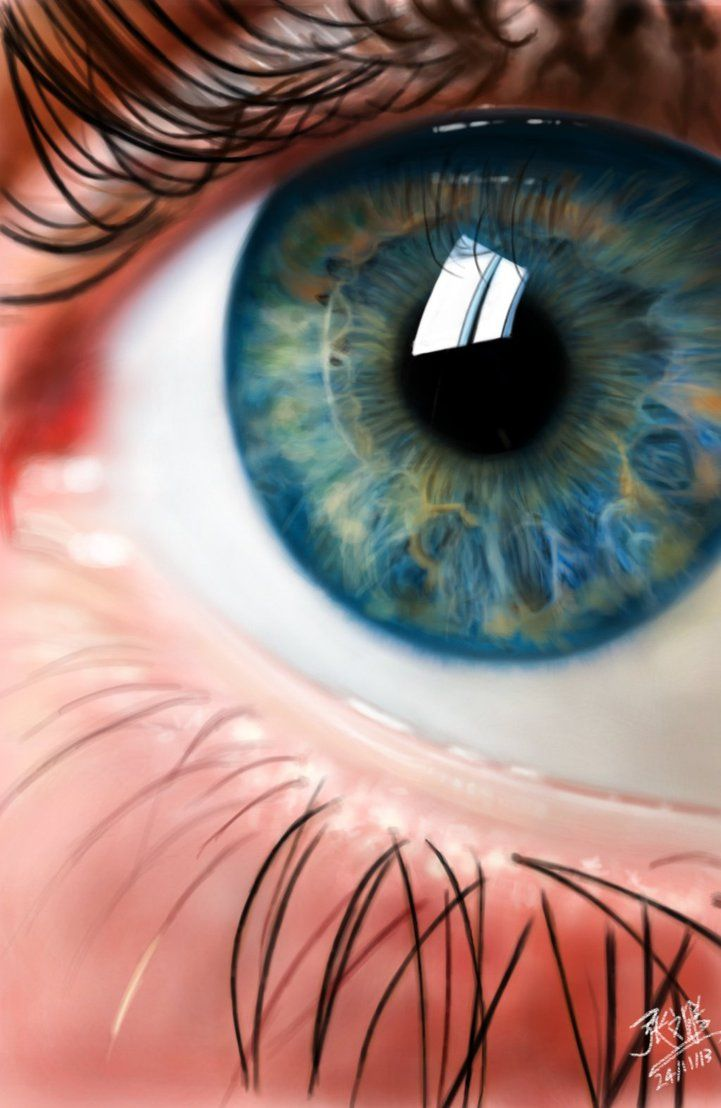 Hyper Realism Painting Ipad Finger Painting Of An Eye By
