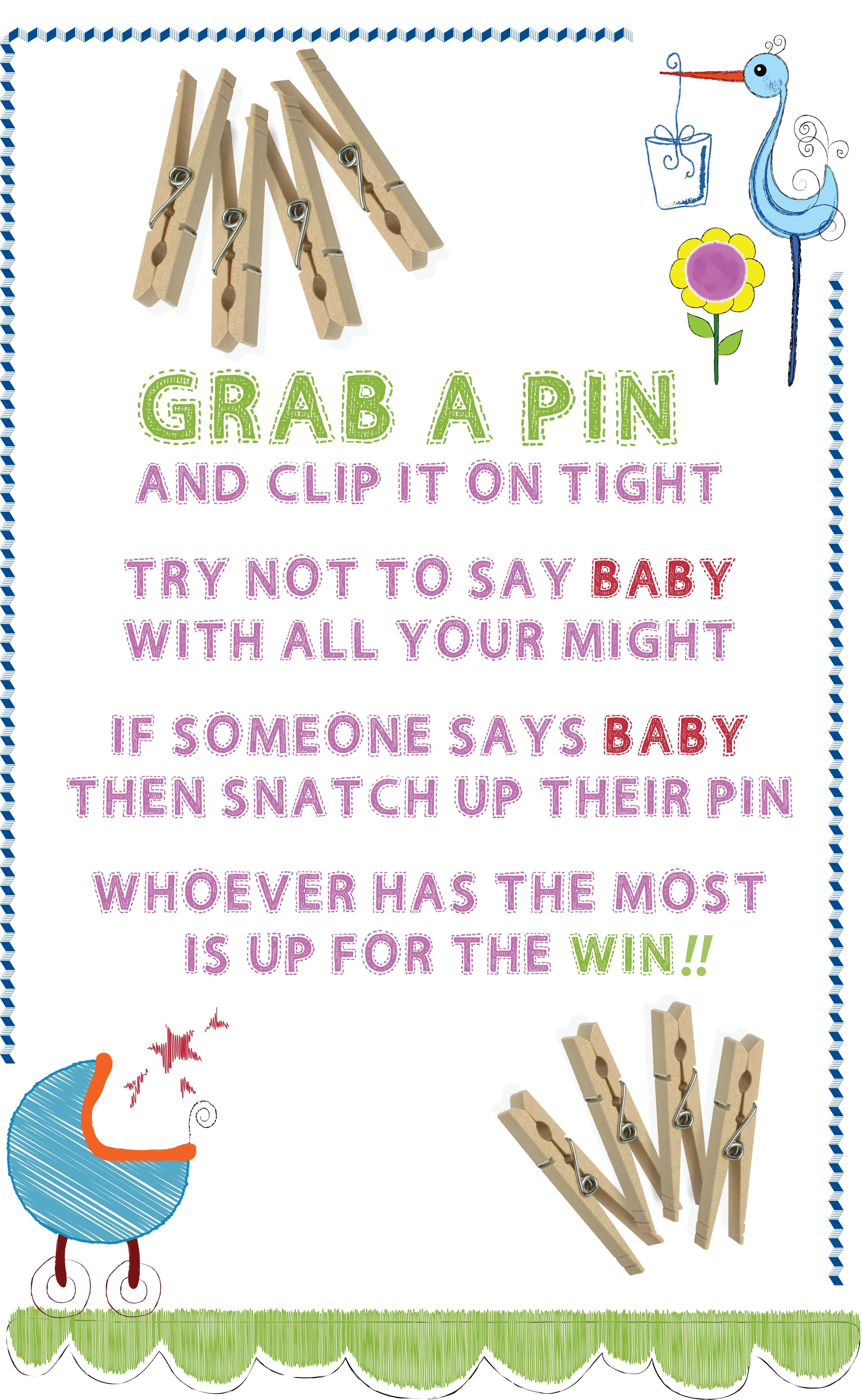 Baby Shower Clothes Pin Game Baby Shower Clothespin Game  Maria's Baby Shower  Pinterest