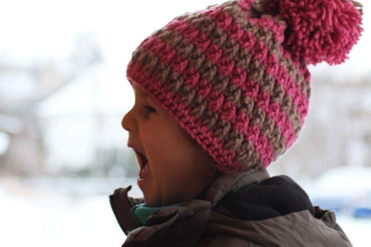 Návod na dětskou háčkovanou čepici  b861a16363