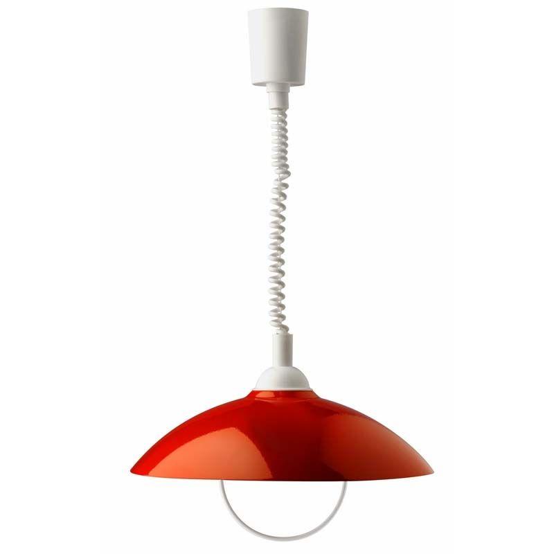"""suspension de plafond moderne rouge avec système """"monte et baisse"""