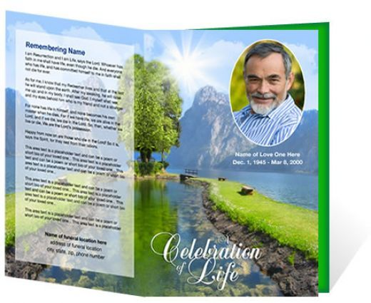 Funeral Brochure Template Free Microsoft | Sample Funeral Program