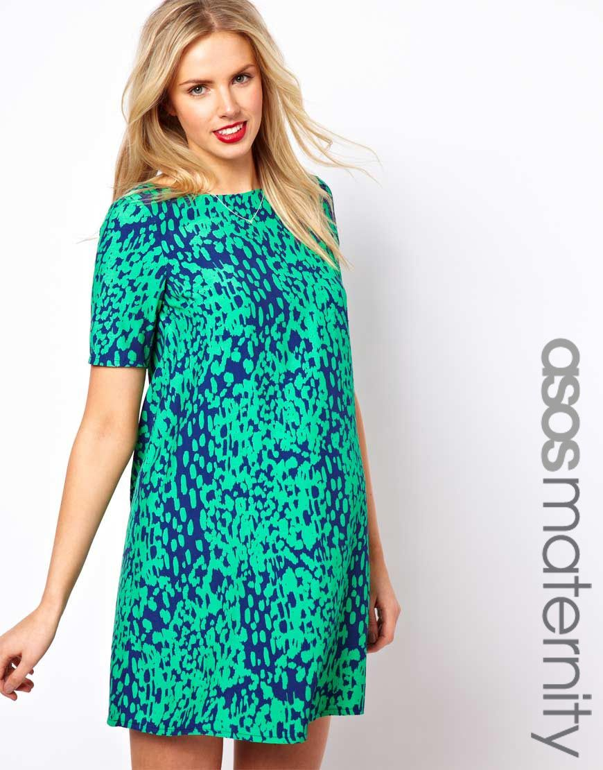 ASOS Maternity Shift Dress in Animal Print | style. | Pinterest ...
