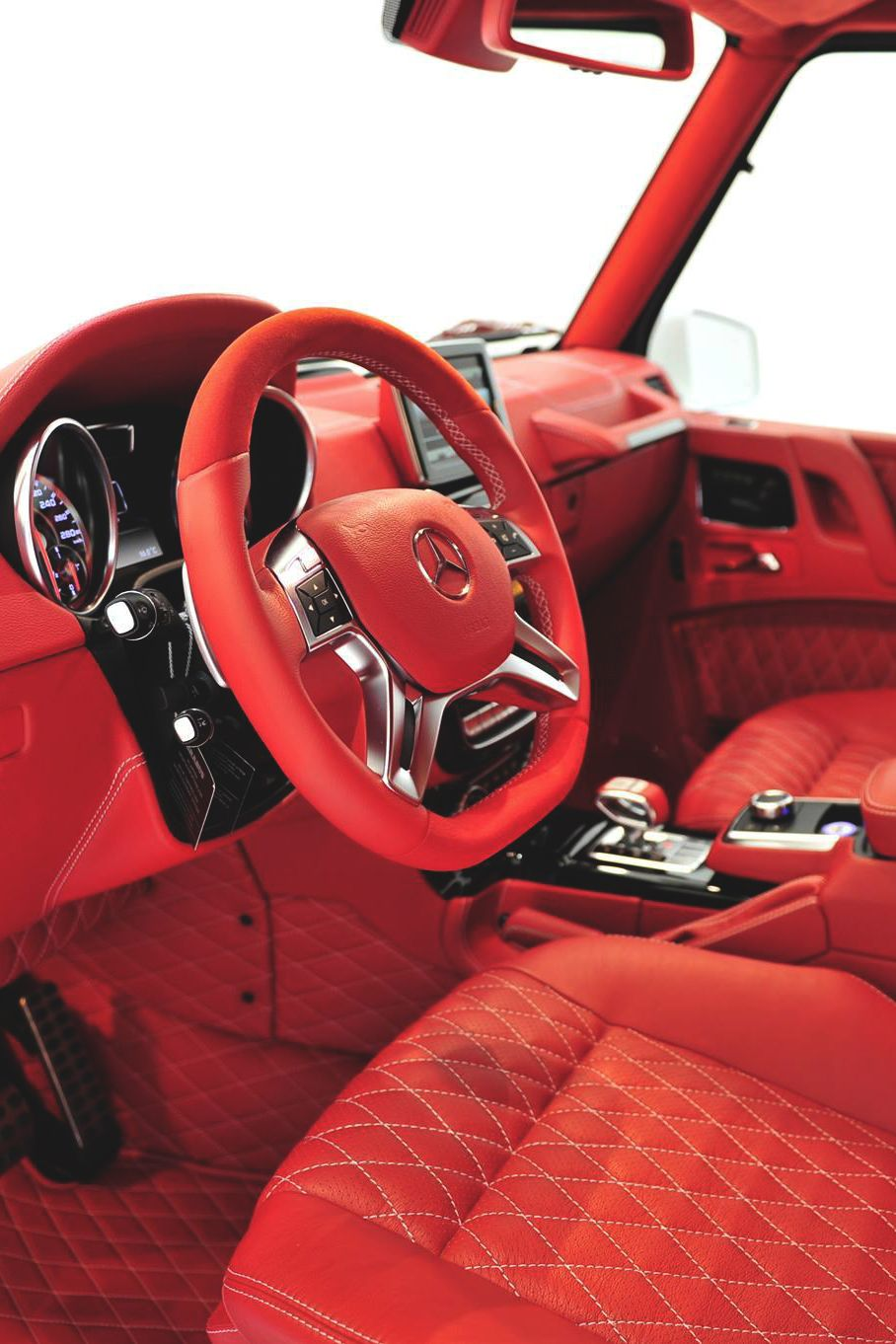Wow That S Red Themanliness Brabus Interior Mercedes