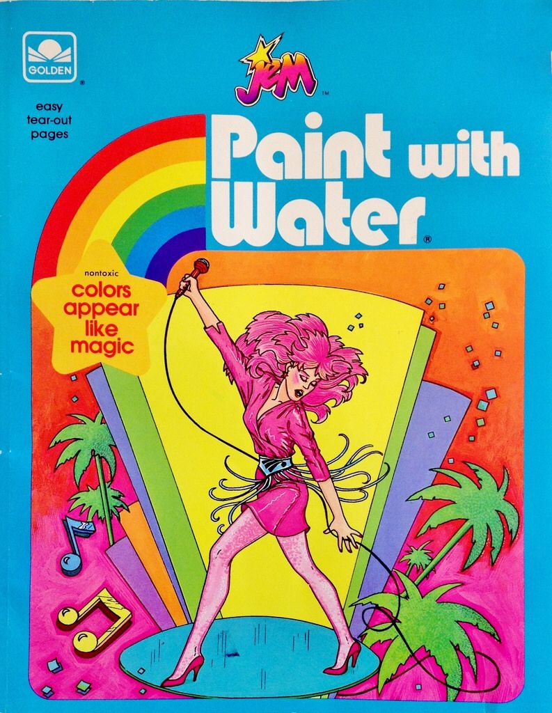 1986 Jem Paint with Water Book | Childhood memories ...